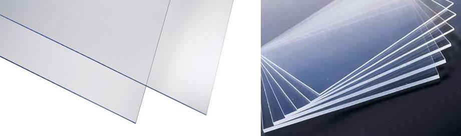 Print plexiglass transparent