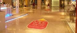Autocolant floor graphics
